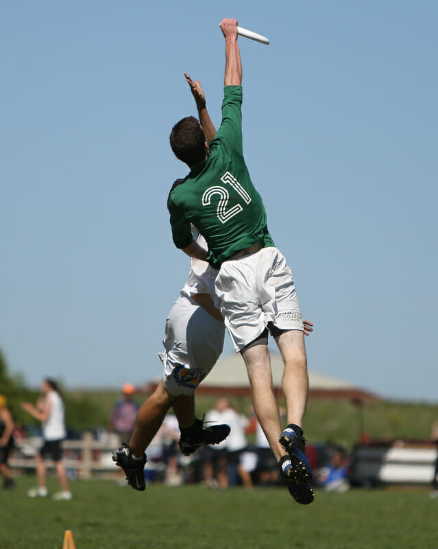 Ohio's Connor Haley gets up at the 2013 D-I College Championships.